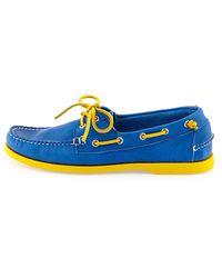 Ralph Lauren Black Label Neon Leather Boat Shoe - Lyst
