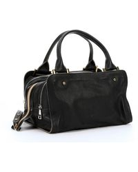 Chloé Black Leather Large 'Dalston' Top Handle Bag - Lyst