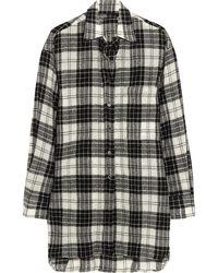 R13 Oversized Plaid Wool Shirt - Lyst