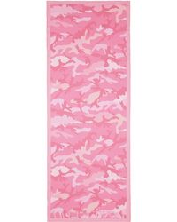 Valentino 'Camupsychedelic' Silk Chiffon Scarf pink - Lyst