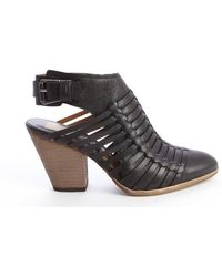 Dolce Vita Black Leather Harolyn Weaved Detail Strappy Ankle Boots - Lyst