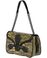 Bottega Veneta Rialto Elaphe and Leather Bag - Lyst