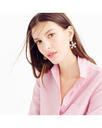 J.Crew | Crystal Floral Earrings | Lyst