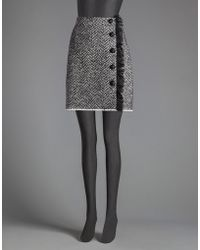 Dolce & Gabbana | Fringed Chevron Skirt With Buttons | Lyst