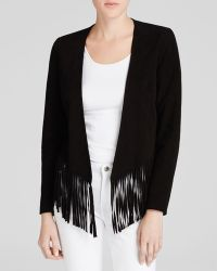 Moon & Meadow | Fringed Suede Jacket | Lyst