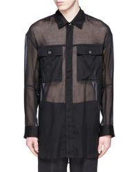 Ann Demeulemeester   Sheer Cotton Military Shirt   Lyst
