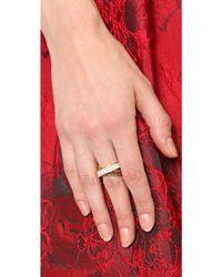 Michael Kors Pave Baguette Crossover Ring Goldtopaz - Lyst