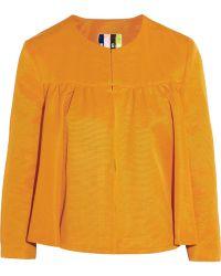 MSGM Cotton-Blend Faille Jacket - Lyst