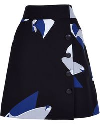 Tibi   Floral Particle Wrap Skirt   Lyst