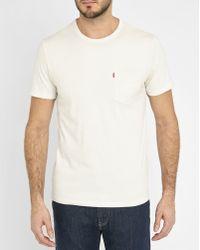 Levi's | White Pocket T-shirt | Lyst