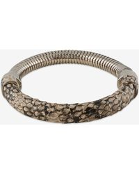 French Connection Wrapped Snake Chain Bracelet animal - Lyst