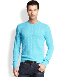 Polo Ralph Lauren Cable-Knit Cashmere Sweater - Lyst