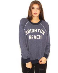 Wildfox Kim Sweater In Brighton Beach In Oxford - Lyst