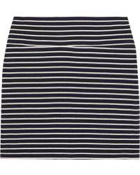 Petit Bateau Striped Cotton-Jersey Mini Skirt - Blue