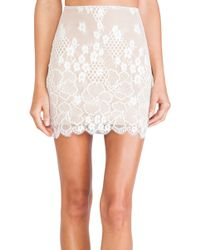 For Love & Lemons Flower Bomb Slip Skirt - Lyst