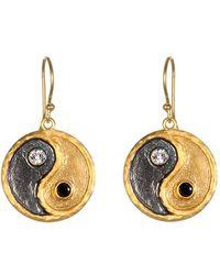 Satya Jewelry - 'yin Yang' Drop Earrings - Lyst