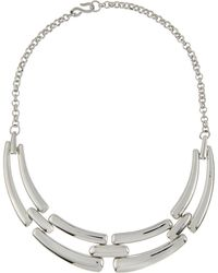 Kenneth Jay Lane Four-Part Link Bib Necklace - Lyst