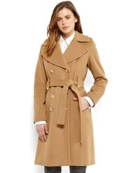 Anne Klein - Belted Military Coat - Lyst