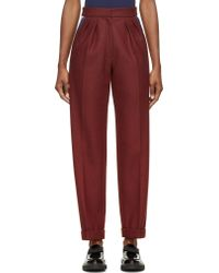 Roksanda Ilincic Burgundy Wool Marre Trousers - Lyst