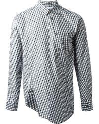 Comme Des Garçons Asymmetric Checked Shirt - Lyst