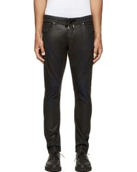 Diesel Black Gold Black And Blue Coated Type 246 Joggjeans - Lyst