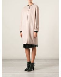Ermanno Scervino Loose Fit Coat - Lyst