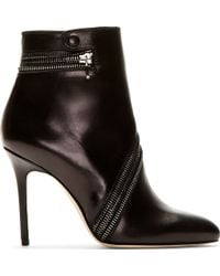 Brian Atwood - Black Leather Nebula Ankle Boots - Lyst