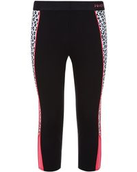 Juicy Couture Cheetah Cropped Sports Leggings black - Lyst