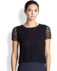 Akris Open-Knit Top - Lyst