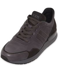 Tod's Leather & Nubuck Running Sneakers - Lyst