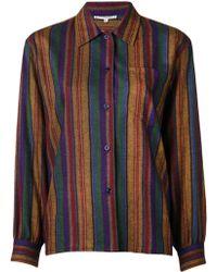 Yves Saint Laurent Vintage Striped Blouse - Lyst