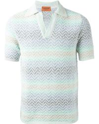 Missoni Zig Zag Knitted Polo Shirt - Lyst