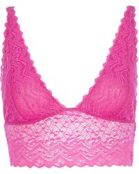 River Island Pink Long Line Lace Bra Top - Lyst