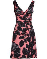 Versace Short Dress pink - Lyst