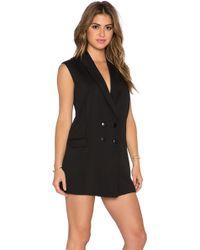 Lucca Couture Blazer Mini Dress - Black