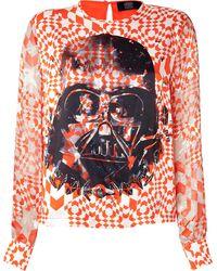 Preen Silk Darth Vader Print Blouse - Lyst