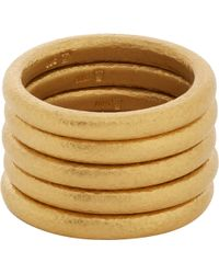 Linda Lee Johnson - Set Of Five Gold Bands - Lyst
