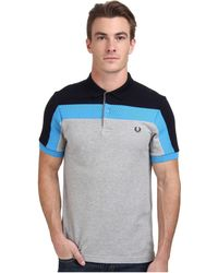 Fred Perry Panelled Pique Shirt - Lyst