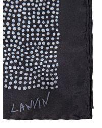 Lanvin Dot Printed Silk Pocket Square - Lyst