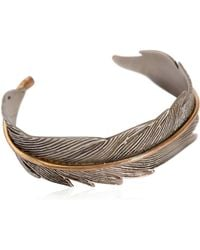 HTC Hollywood Trading Company - Metal Feather Cuff Bracelet - Lyst