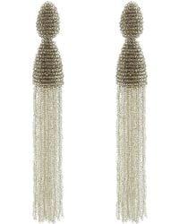 Oscar de la Renta Long Tassel Earrings - Lyst