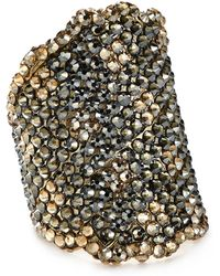 Roni Blanshay Two-tone Jonquil Ring - Metallic