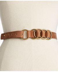 Nine West - Multi Ring Leather Belt - Lyst