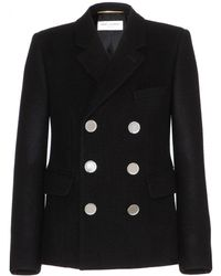 Saint Laurent Wool Jacket - Lyst