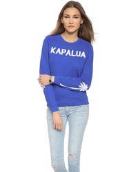 Zoe Karssen Kapalua Sweatshirt - Dazzling Blue - Lyst