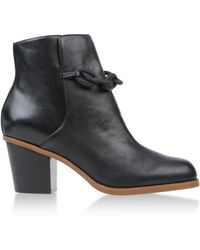 Mm6 By Maison Martin Margiela Black Ankle Boots - Lyst