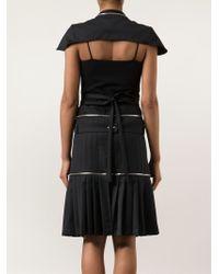 Hood By Air - Pleated Skirt Cape Dress - Lyst