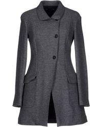 Fabrizio Lenzi Coat gray - Lyst