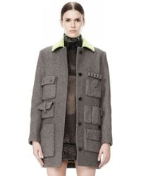 Alexander Wang | Single Breasted Car Coat with Cargo Pockets | Lyst