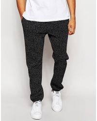 American Apparel - Joggers With Speckle Effect - Black/white Speckle - Lyst